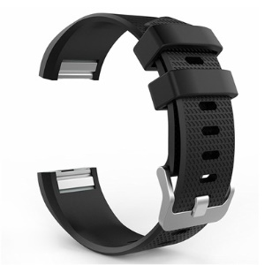 Soft Silicone Wrist Band Replacement for Fitbit Charge 2 - Black