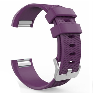 Soft Silicone Strap Wristband Replacement for Fitbit Charge 2 - Dark Purple