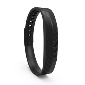 Silicone Fitness Wrist Band Replacement Accessory for Fitbit Flex 2 - Black