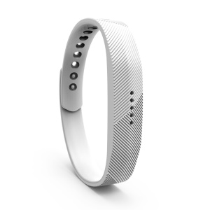 Silicone Wrist Band Accessory Replacement for Fitbit Flex 2 - White