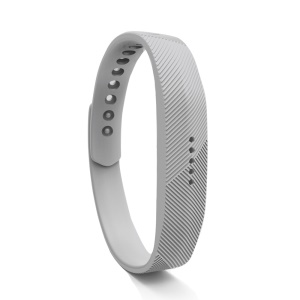 Fashion Silicone Wristband Accessory Replacement Band for Fitbit Flex 2 - Light Grey