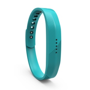 Silicone Fitness Wristband Replacement Band for Fitbit Flex 2 - Cyan