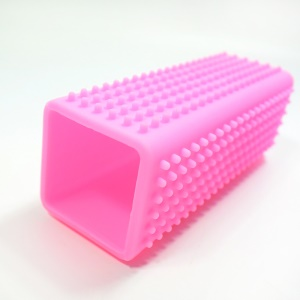 Silicone Pets Shedding Hair Remover Brush Grooming Tool for Puppy Dogs Cats - Pink