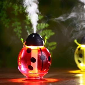 Portable Beatles USB Air Purifier Humidifier with LED Night Light - Red