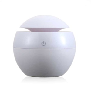 FEA U8 Ultrasonic Essential Oil Diffuser Humidifier with LED Lights USB Power - White