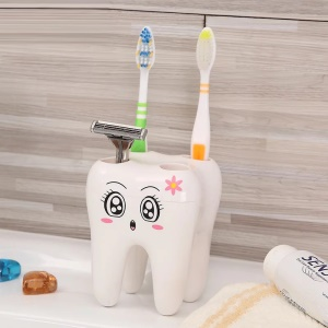 ANYA Cute Cartoon Tooth Shaped Toothbrush Holder for Children