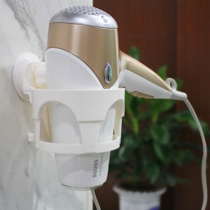 Bathroom Plastic Hair Blow Dryer Holder with Suction Cup
