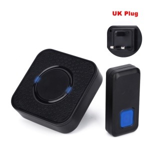 N6S-1T1 300m Wireless Doorbell Kit 1 Transmitter + 1 Plug-in AC Receiver, 55 Chimes - UK Plug