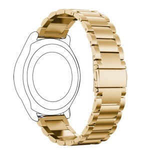 Luxury Stainless Steel Bracelet Watch Band for Samsung Gear S3 Frontier - Gold Color