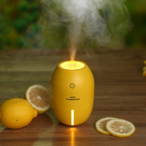 LED Light Lemon Shape Ultrasonic Mist Air Humidifier (LM-001) - Yellow