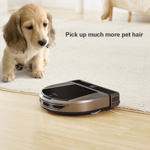 DIBEA D900 D Shape Design Rover Robotic Vacuum Cleaner with Wet and Dry Mop - EU Plug