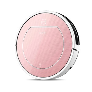 ILIFE V7S Pro Robot Aspirator 2 in 1 Robot Vacuum Cleaner for Home Wet and Dry Clean - Rose Gold / EU Plug