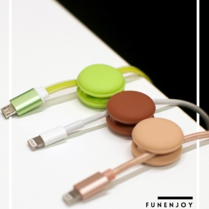 FUNENJOY 6PCS Silicone Macaron Desktop Cable Organizer Sticky Winder Clamp (Random Color)