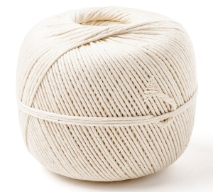 Natural DIY Cotton Rope Kitchen Cooking Twine, 2mm x 350m - White