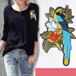 2PCS/Lot Phoenix and Flower Embroidered Iron on Applique Patches