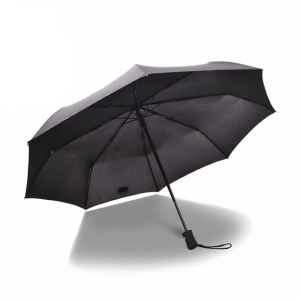 Lightweight 8 Ribs One Button Automatic Folding Umbrella for Men and Women - Black