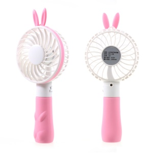 Cute Shape Portable USB Cooling Fan Handheld Mini Fan with 2 Adjustable Speeds - Pink / Rabbit