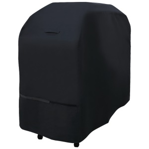 Heavy-Duty Waterproof Outdoor Black BBQ Barbecue Grill Cover, Size: 145 x 61 x 117CM