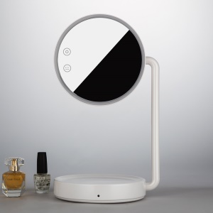JOYROOM CY166 Rotary Cosmetic Mirror with Dimmable LED Table Lamp for Women - White