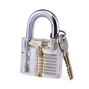 Professional Transparent Practice Lock Padlock Set for Locksmith Lock Beginners
