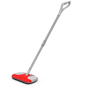 Household Hand Push Extendable Cordless Electric Sweeper Broom - Red / EU Plug