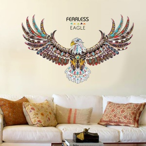 Colorized Eagle Removable Living Room Decal PVC Wall Stickers, Size: 60 x 90cm