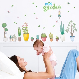 Mini Garden Pattern Bedroom Wall Decal Sticker Removable Home Decoration Sticker, Size: 50 x 70cm