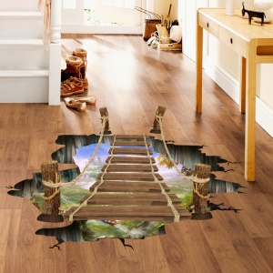 Suspension Bridge Pattern Floor Wall Stickers Removable DIY Decal Home Decoration, Size: 60 x 90cm