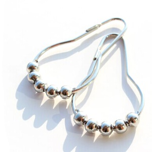 12Pcs/Set Anti-Rust Nickel Plating 304 Stainless Steel Shower Curtain Rings Hook