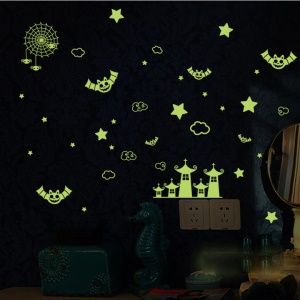 Halloween Pattern Luminous Wall Stickers Removable DIY Decal Home Decor, Size: 21 x 29.7cm