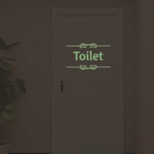 Toilet Pattern Luminous Bedroom Wall Decal Sticker Removable Home Decoration Sticker, Size: 15 x 25cm
