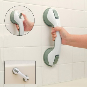 Suction Disc Anti-slide Helping Handle for Senior Citizens - White