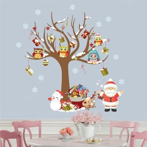 Christmas Pattern Wall Stickers Removable DIY Decal Home Decor, Size: 88 x 80cm