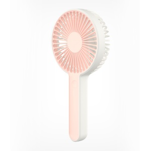 Portable Three-mode Detachable USB Rechargeable Summer Cooling Fan - Pink