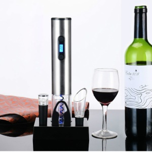 Electric Wine Bottle Opener Kit with Rechargeable Base