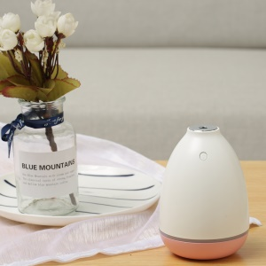 Mini 200ml Desktop Car Air Purifier Humidifier with Atmosphere Lamp - Pink
