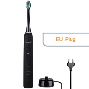 MORNWELL D01 Electric Toothbrush Rechargeable Sonic Toothbrush for Adults - Black / EU Plug