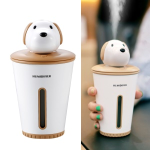 Mini Desktop Humidifier with Night Light USB Rechargeable Air Purifier Refresher - Brown