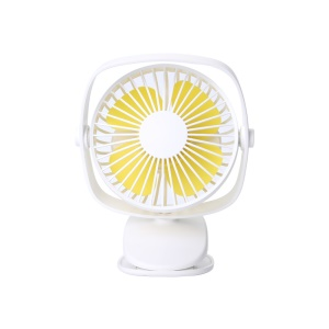 Portable Handheld USB Rechargeable Cooling Fan 360° Rotatable Mini Clip Fan - White