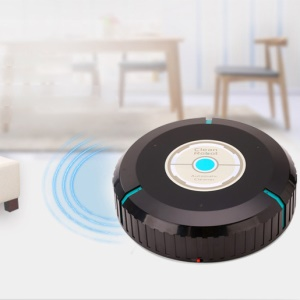 Portable Automatic Vacuum Cleaner Robot Floor Cleaning Sweeper - Black