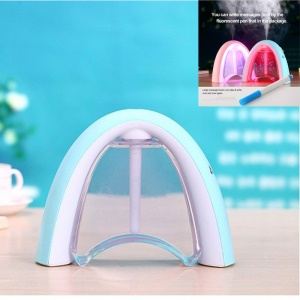 Message Board Night Light USB Mini Humidifier Rainbow Shape WT8011 - Blue