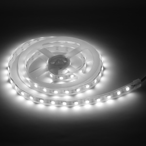 1M USB Waterproof 3W 60-LED Flexible Strip Light with Touch Switch Control - White
