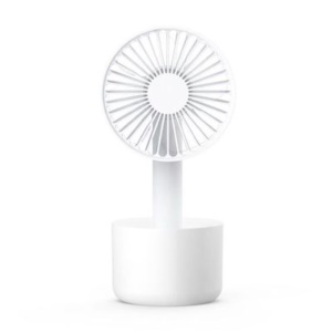 Mini Detachable Handheld Desktop USB Rechargeable Cooling Fan - White