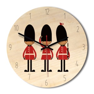 Retro Style Solid Wood Wall Clock Creative Clock Home Decor Wall Clock - Soldiers