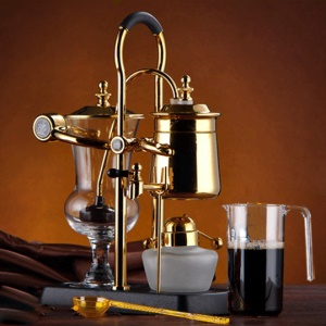 DIGUO Belgium Luxury Royal Family Balance Syphon Coffee Maker (F-2013A) - Gold