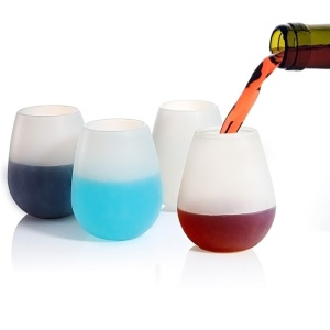 Food Grade Silicone Wine Cup Soft Unbreakable Silicone Wine Glasses