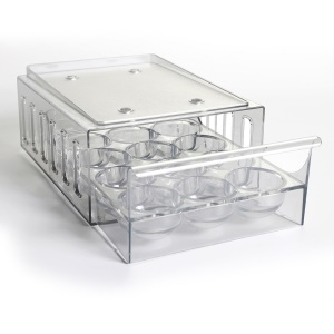 Stackable Kitchen Egg Tray Holder with 12 Egg Tray