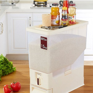 15KG Transparent Rice Dispenser Storage Container