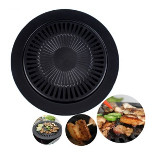 Non-Stick Smokeless Indoor Barbecue Electric Gas Grill Pan