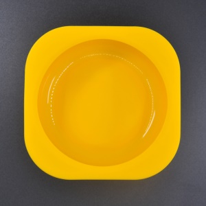 FDA Food Grade Safe Silicone Gel Bowl for Babies, Size: 120 x 120 x 41mm - Yellow